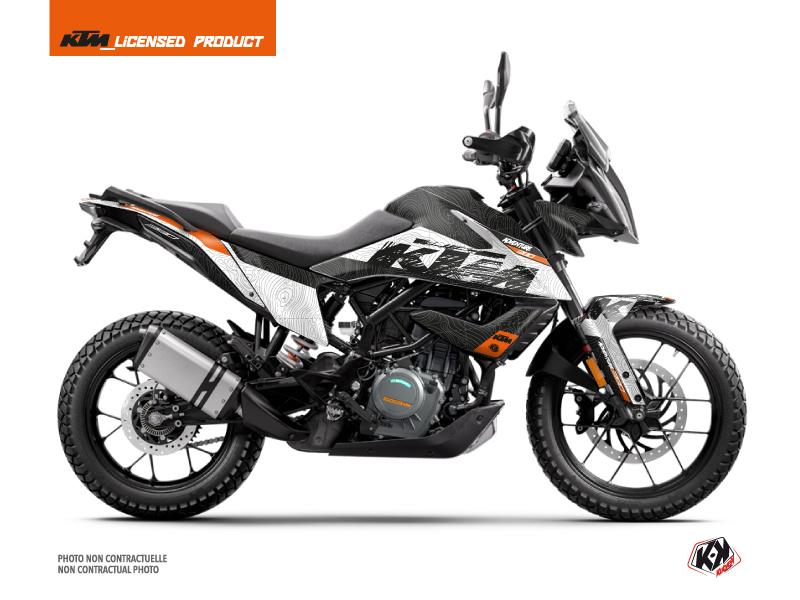 Kit Déco Moto Gear KTM 390 Adventure Blanc