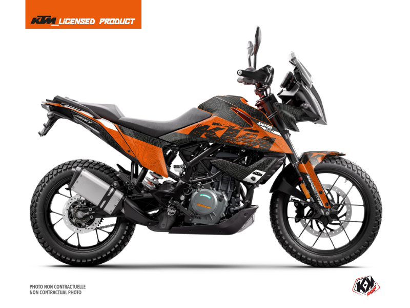 KTM 390 Adventure Street Bike Gear Graphic Kit Orange