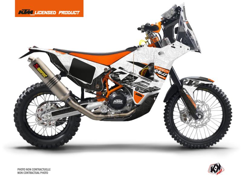 KTM 450 Rally Dirtbike Gear Graphic Kit White