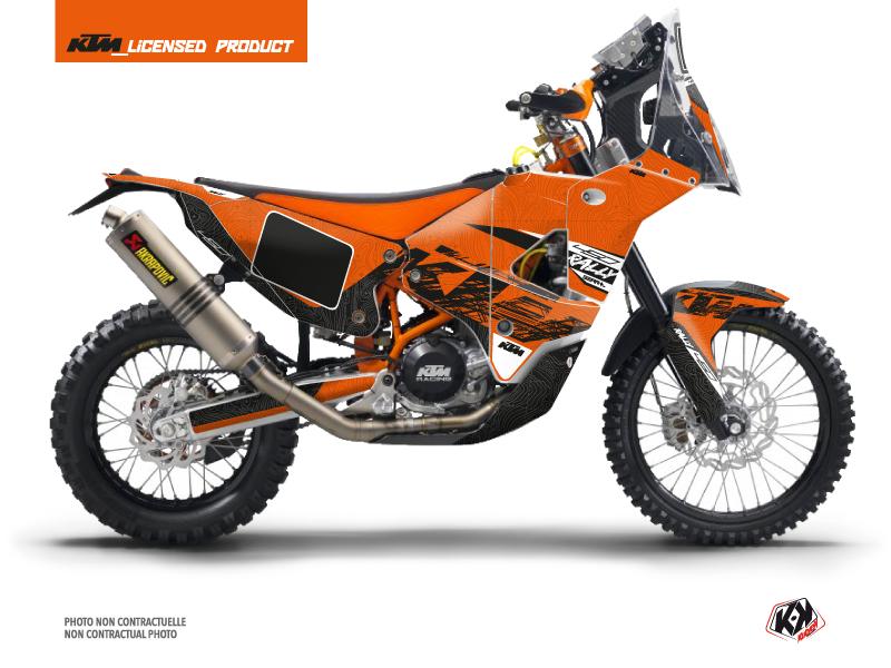 KTM 450 Rally Dirtbike Gear Graphic Kit Orange