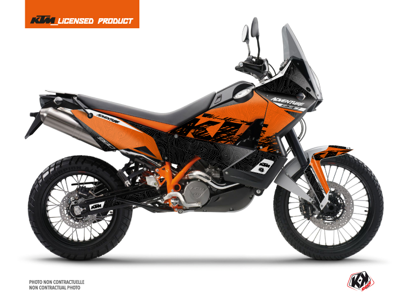 KTM 990 Adventure Street Bike Gear Graphic Kit Orange
