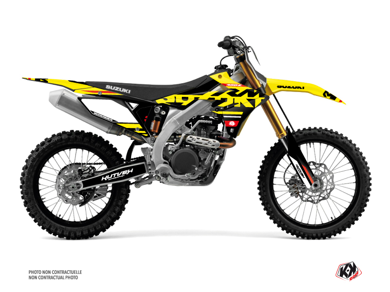 Kit Déco Moto Cross Grade Suzuki 250 RMZ Rouge