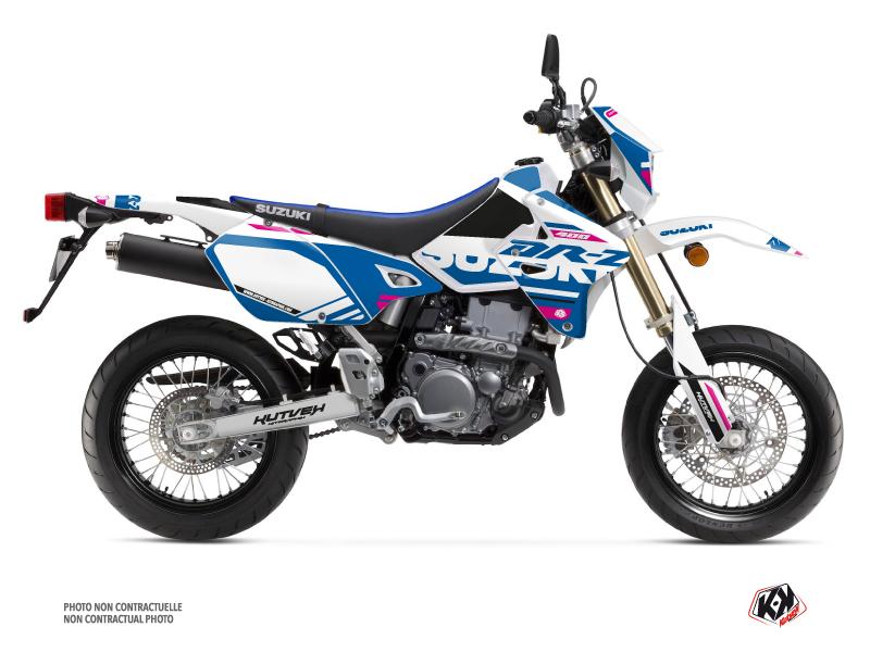 Suzuki DRZ 400 SM Dirt Bike Grade Graphic Kit White Pink