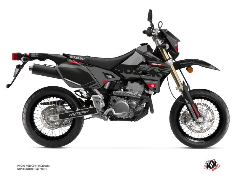 Suzuki DRZ 400 SM Dirt Bike Grade Graphic Kit Black