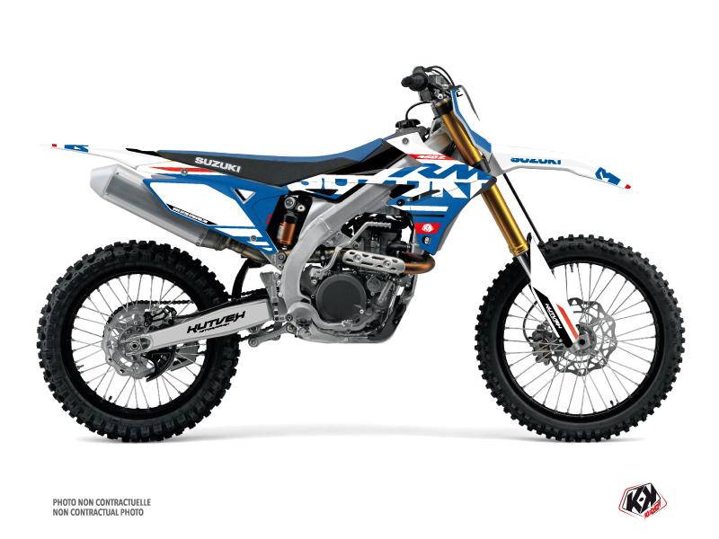 Suzuki 450 RMZ Dirt Bike Grade Graphic Kit White