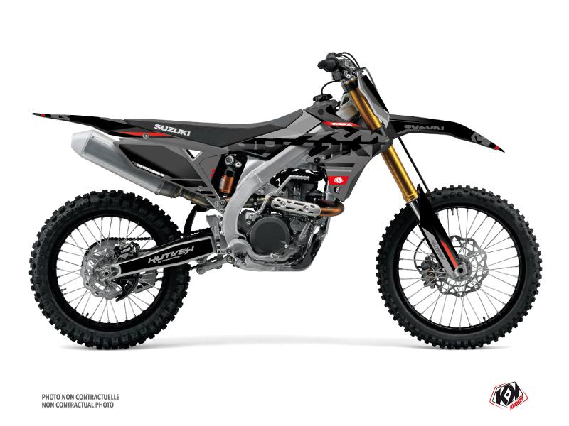 Suzuki 450 RMZ Dirt Bike Grade Graphic Kit Black