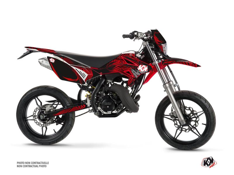 Beta RR 50 Motard 50cc Graff Graphic Kit Red