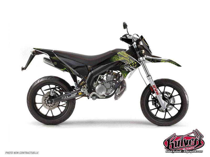 Derbi DRD Xtreme 50cc Graff Graphic Kit Green
