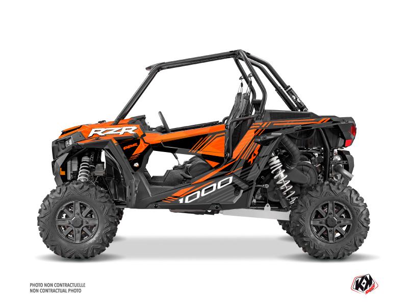 Polaris RZR 1000 Turbo UTV Graphite Graphic Kit Orange