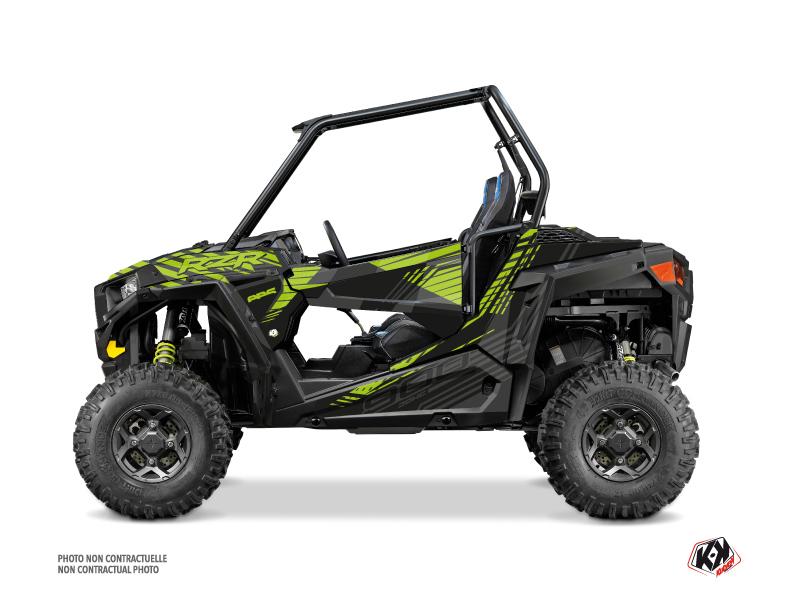 Polaris RZR 900 S UTV Graphite Graphic Kit Neon Grey
