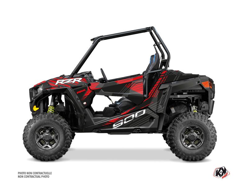 Polaris RZR 900 S UTV Graphite Graphic Kit Black Red