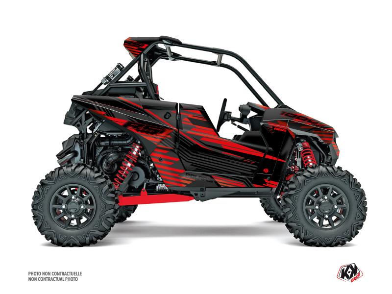 Polaris RZR RS1 UTV Graphite Graphic Kit Black Red FULL