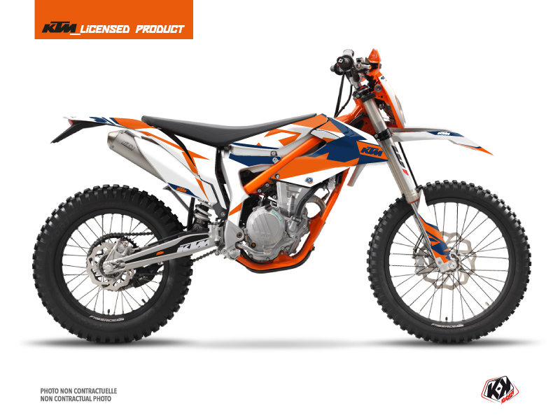KTM 250 FREERIDE Dirt Bike Gravity Graphic Kit Blue