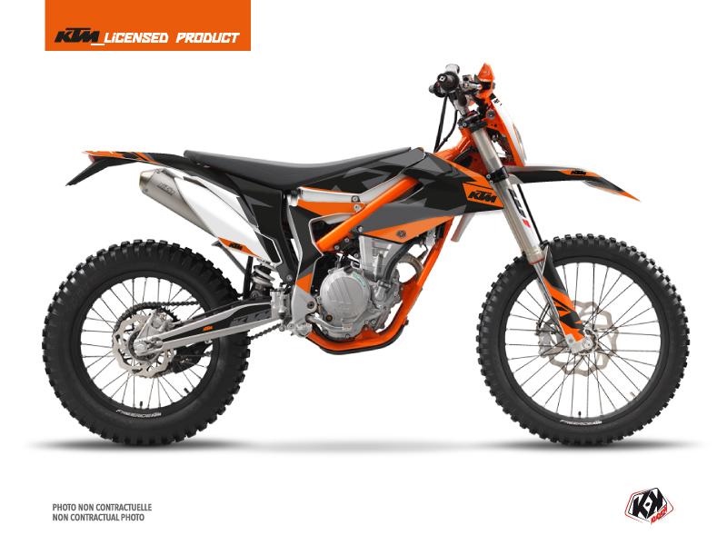 KTM 250 FREERIDE Dirt Bike Gravity Graphic Kit Orange