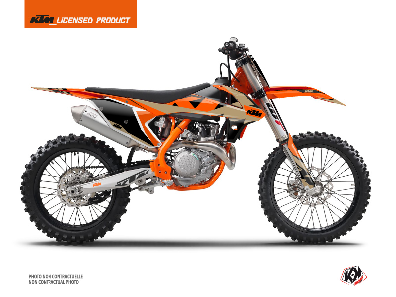 KTM 250 SXF Dirt Bike Gravity Graphic Kit Orange Sand