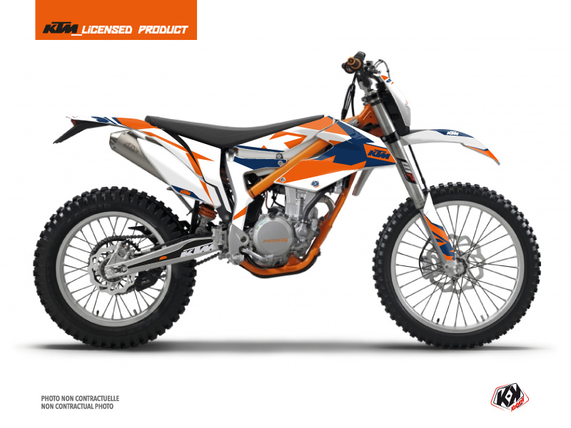 KTM 350 FREERIDE Dirt Bike Gravity Graphic Kit Blue