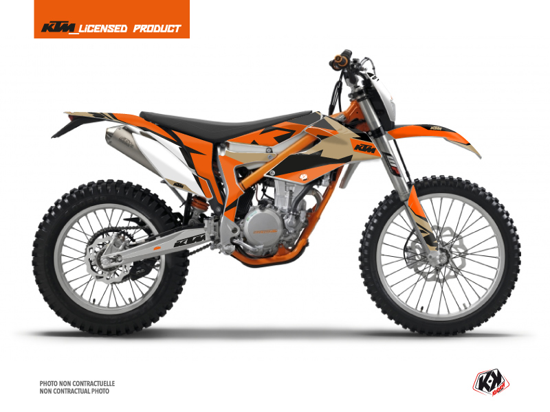 KTM 350 FREERIDE Dirt Bike Gravity Graphic Kit Orange Sand