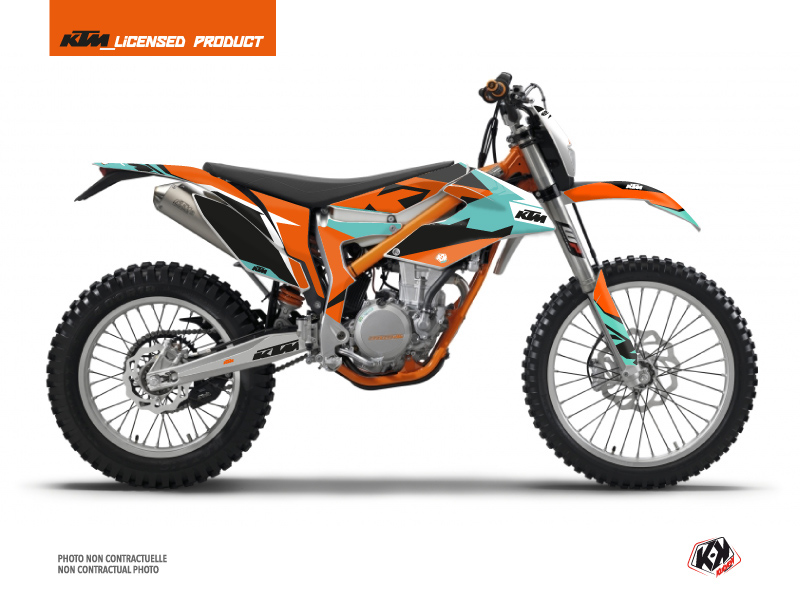 KTM 350 FREERIDE Dirt Bike Gravity Graphic Kit Green