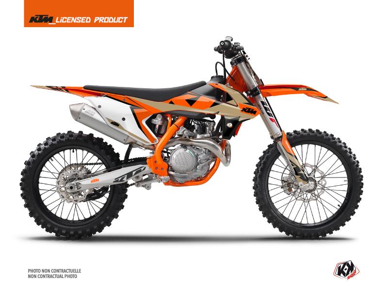 KTM 350 SXF Dirt Bike Gravity Graphic Kit Orange Sand