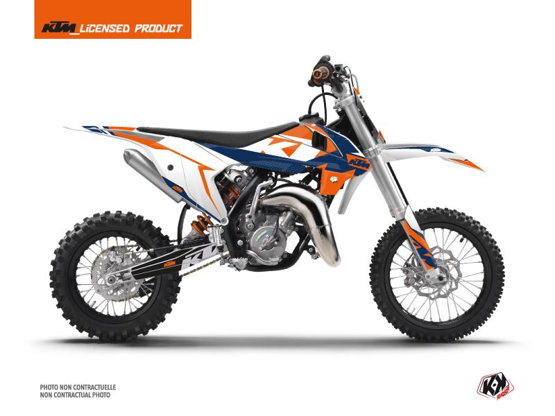 KTM 50 SX Dirt Bike Gravity Graphic Kit Blue