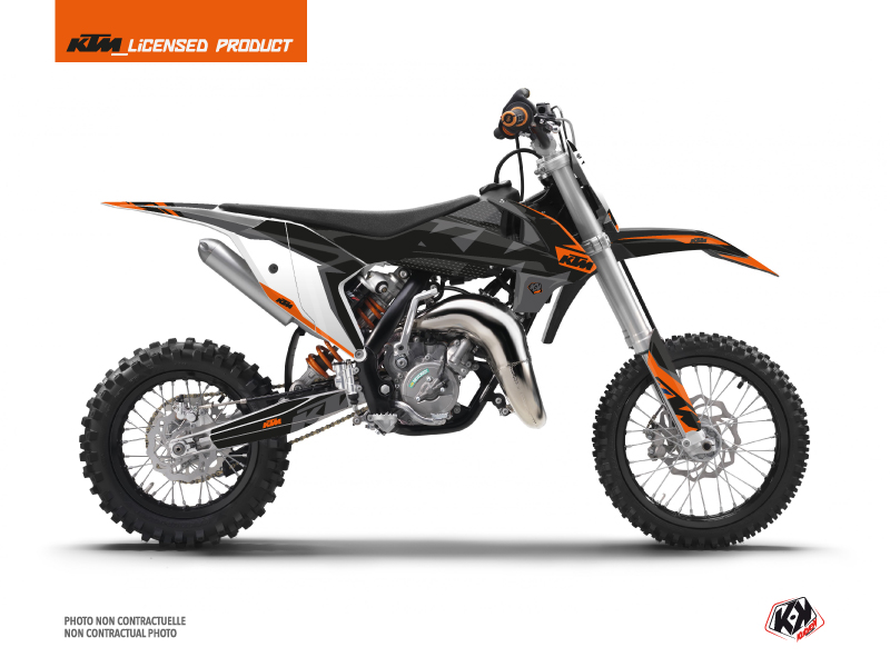 KTM 65 SX Dirt Bike Gravity Graphic Kit Orange