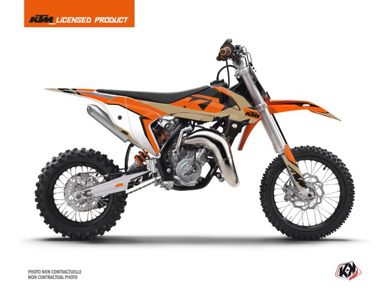 KTM 65 SX Dirt Bike Gravity Graphic Kit Orange Sand