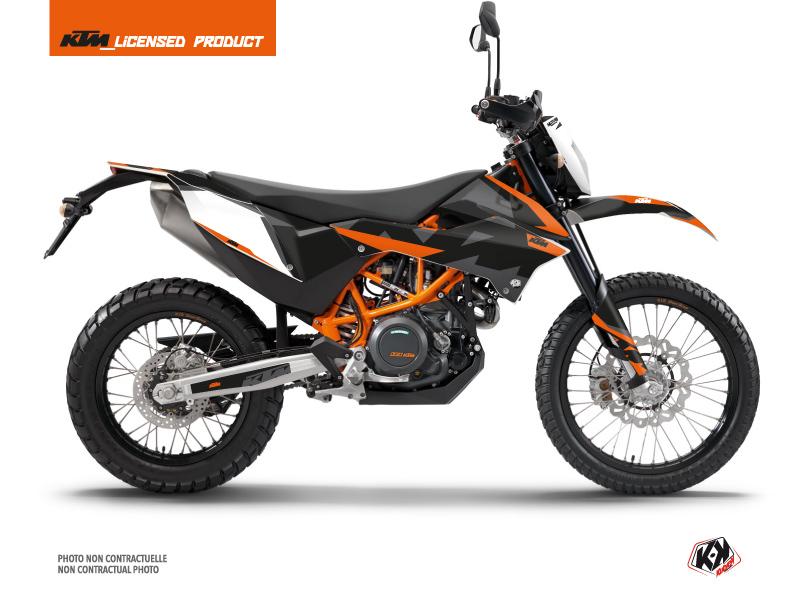 KTM 690 ENDURO R Dirt Bike Gravity Graphic Kit Orange