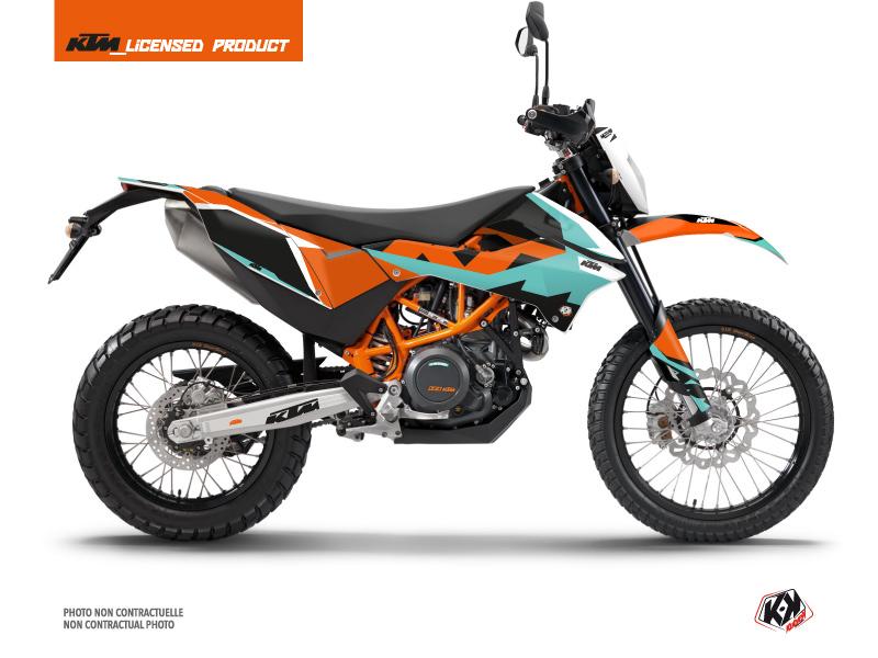 KTM 690 ENDURO R Dirt Bike Gravity Graphic Kit Green