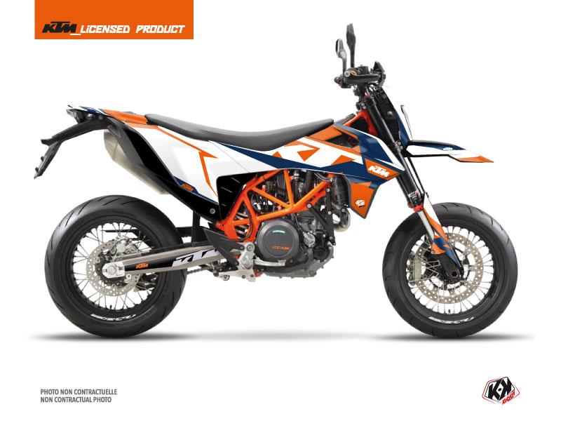 KTM 690 SMC R Dirt Bike Gravity Graphic Kit Blue