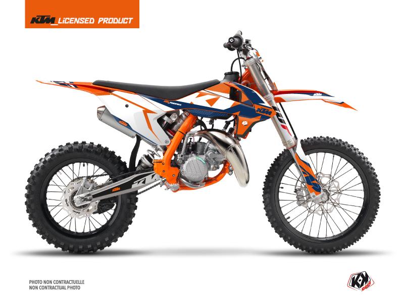 KTM 85 SX Dirt Bike Gravity Graphic Kit Blue