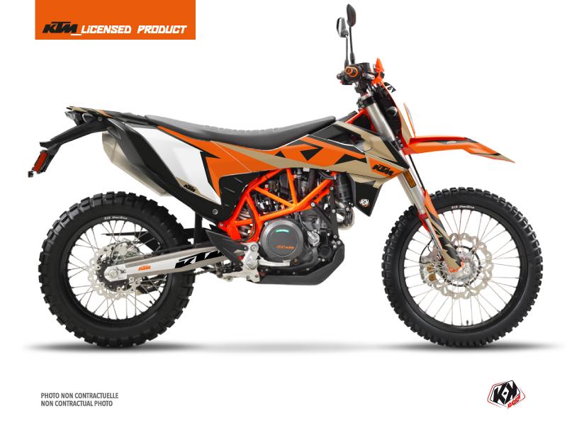 KTM 690 ENDURO R Dirt Bike Gravity Graphic Kit Orange Sand