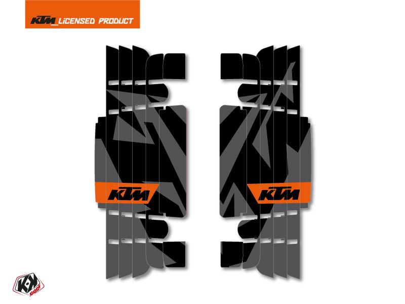 Kit Deco Radiator guards Gravity KTM EXC-EXCF 2017 Orange