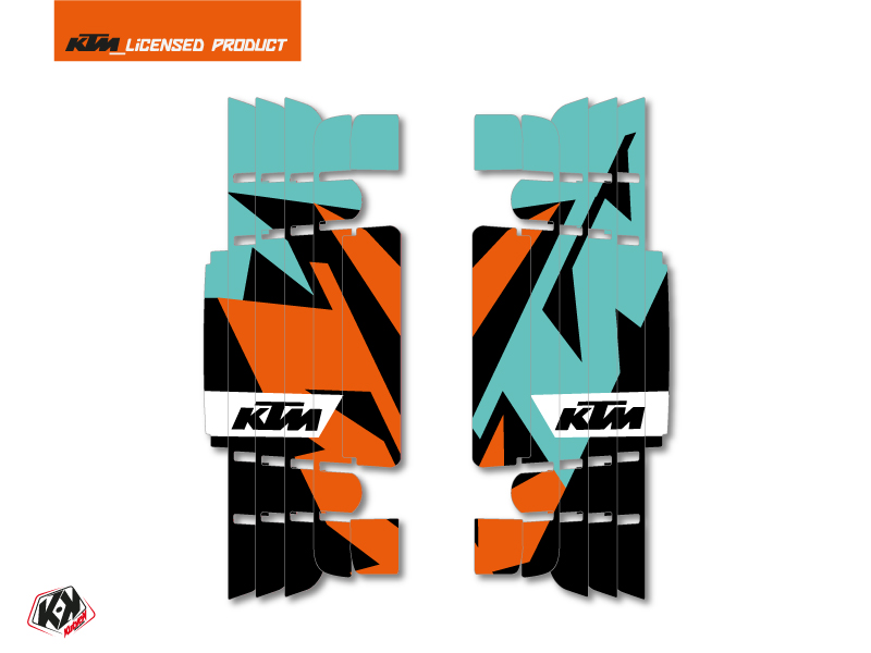 Kit Deco Radiator guards Gravity KTM EXC-EXCF 2017 Green