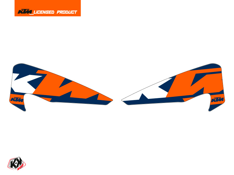 Graphic Kit Hand Guards Stickers Gravity Dirt Bike KTM EXC-EXCF Blue