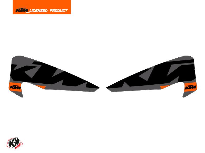 Graphic Kit Hand Guards Stickers Gravity Dirt Bike KTM EXC-EXCF Orange