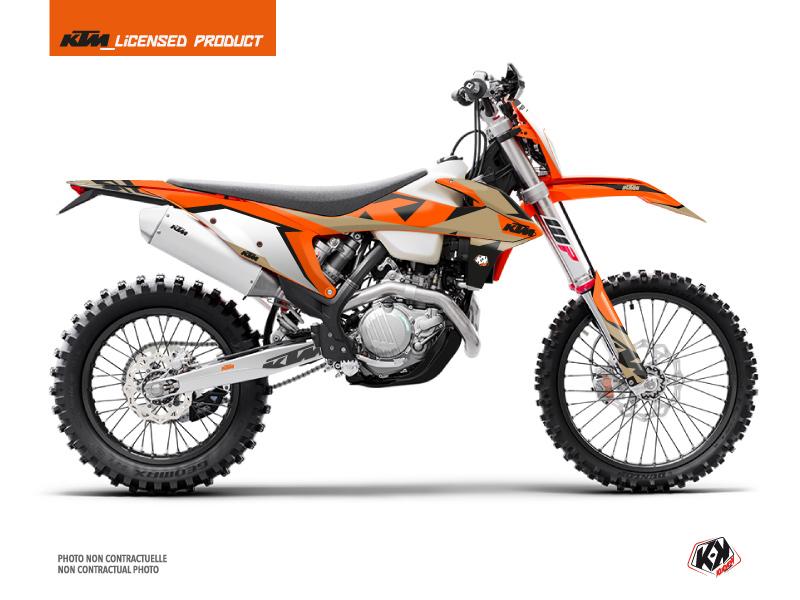 KTM EXC-EXCF Dirt Bike Gravity Graphic Kit Orange Sand