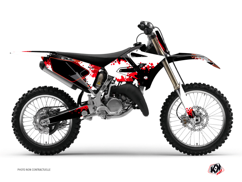 Yamaha 125 YZ Dirt Bike Hangtown Graphic Kit Red