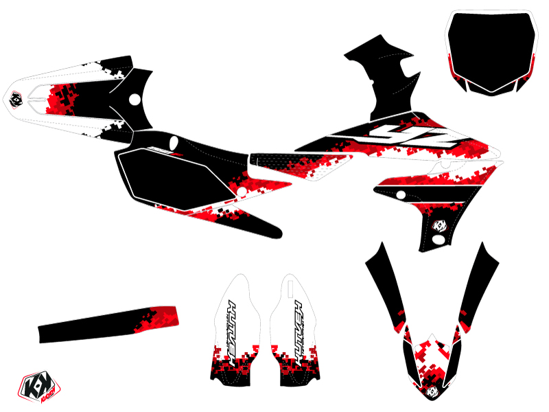 Yamaha 250 YZF Dirt Bike Hangtown Graphic Kit Red