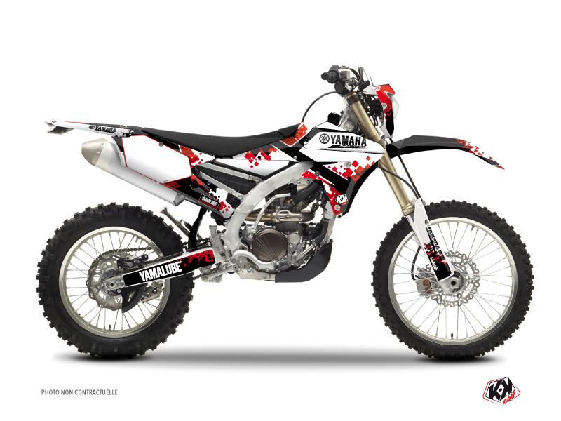 Yamaha 450 WRF Dirt Bike Hangtown Graphic Kit Red