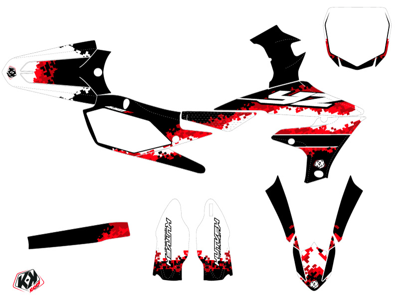 Kit Déco Moto Cross Hangtown Yamaha 450 YZF Rouge