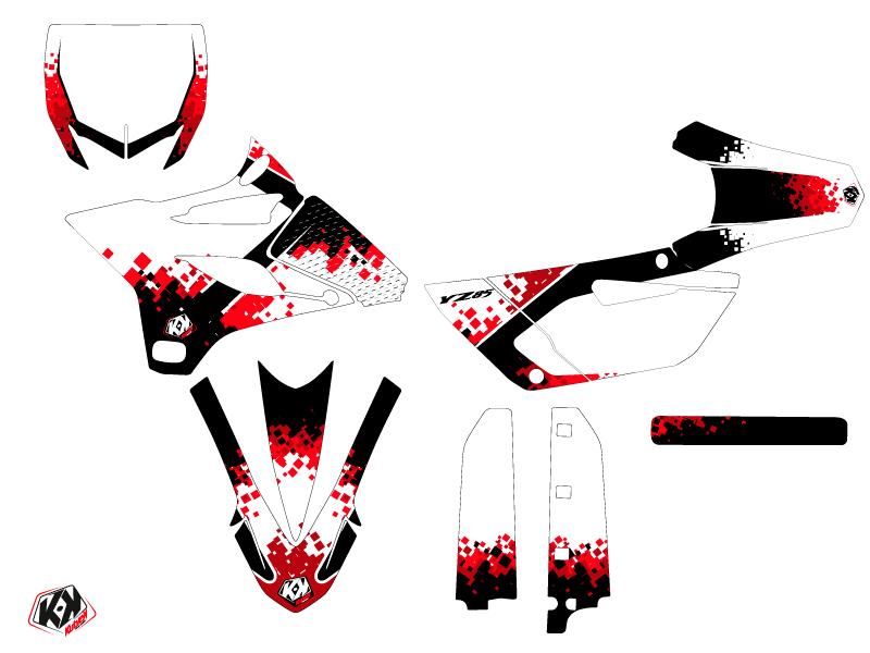 Yamaha 85 YZ Dirt Bike Hangtown Graphic Kit Red