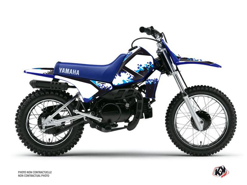 Kit Déco Moto Cross Hangtown Yamaha PW 80 Bleu