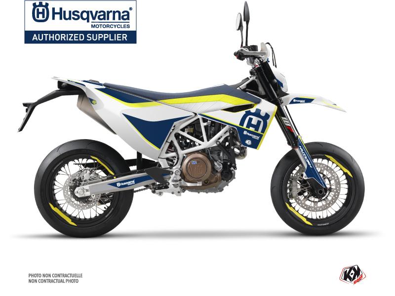 Husqvarna 701 Supermoto Dirt Bike Heritage Graphic Kit Yellow