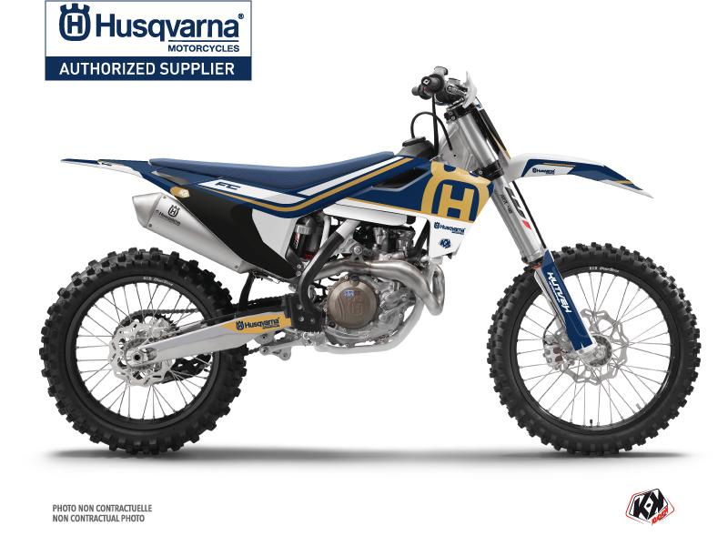 Husqvarna FC 250 Dirt Bike Heritage Graphic Kit Blue