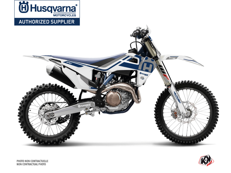 Husqvarna FC 350 Dirt Bike Heritage Graphic Kit White Grey