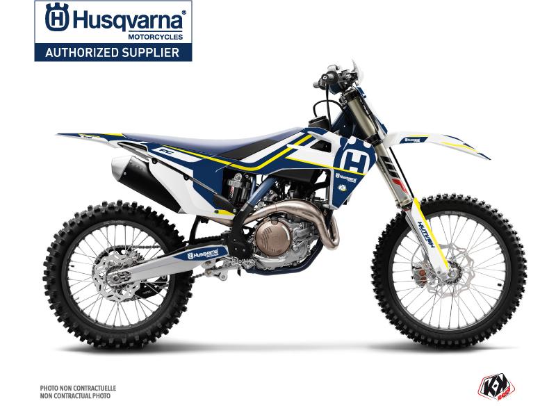 Husqvarna 450 FE Dirt Bike Legend Graphic Kit Blue White