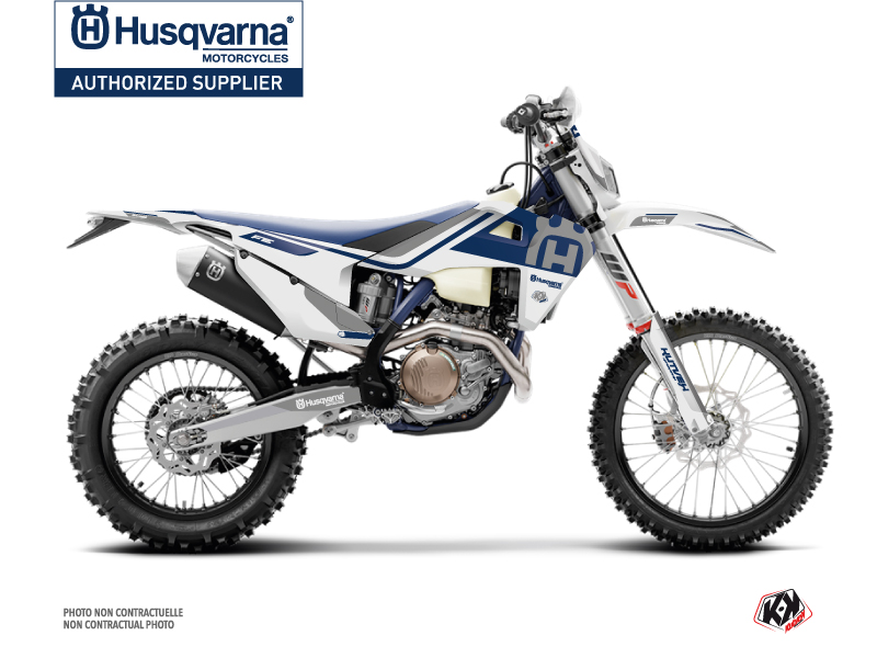 Husqvarna 250 FE Dirt Bike Heritage Graphic Kit White Grey