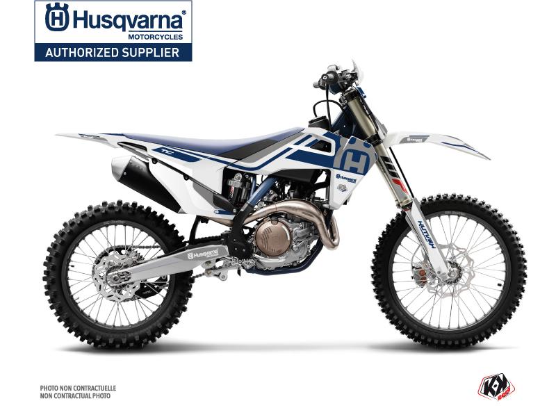 Husqvarna TC 250 Dirt Bike Heritage Graphic Kit White Grey