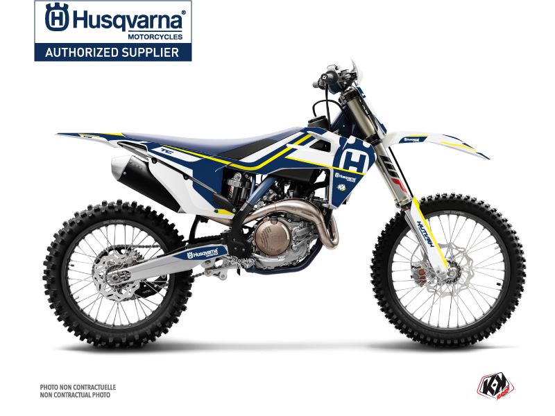 Husqvarna TC 250 Dirt Bike Heritage Graphic Kit Blue White