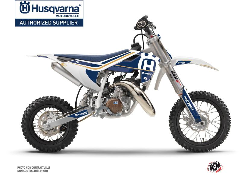 Husqvarna TC 50 Dirt Bike Heritage Graphic Kit White